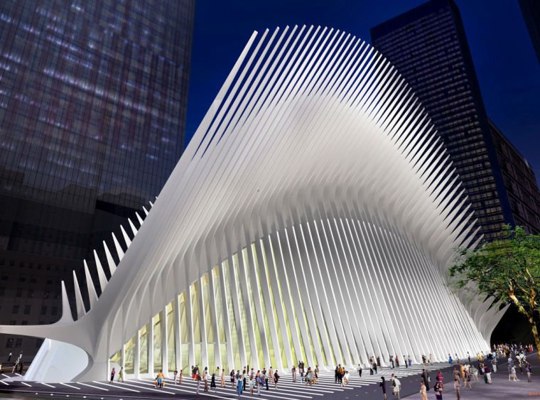 Architectural rendering of The World Trade Center Transportation Hub
