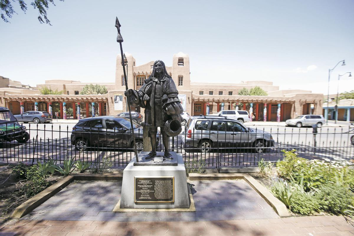 Activists Protesting Controversial Statues Turn Focus To Santa Fe Plaza Obelisk Local News Santafenewmexican Com