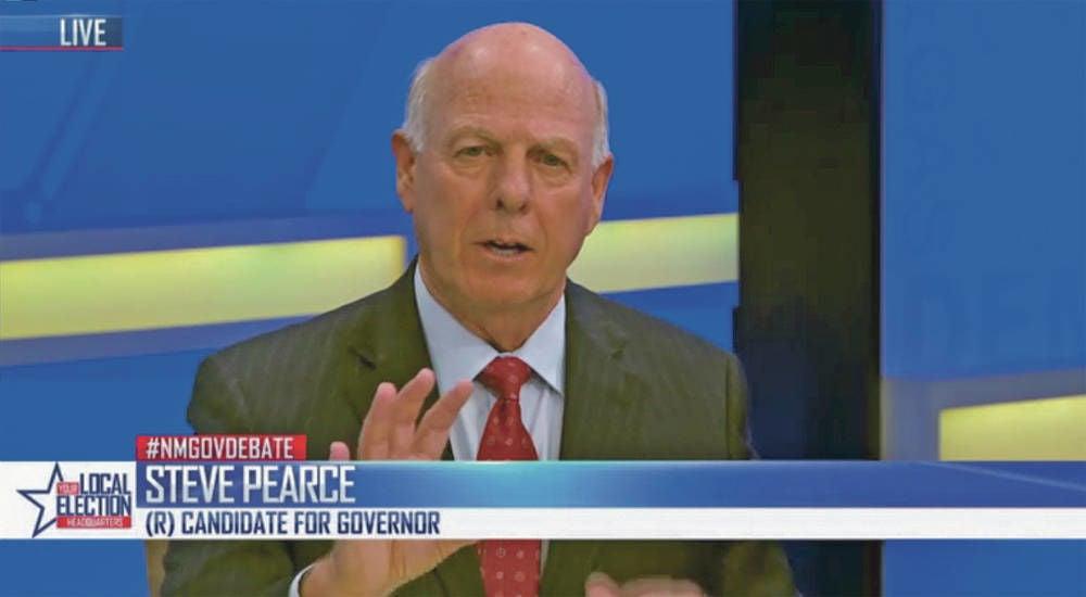 Gubernatorial candidates Lujan Grisham, Pearce clash in first televised debate