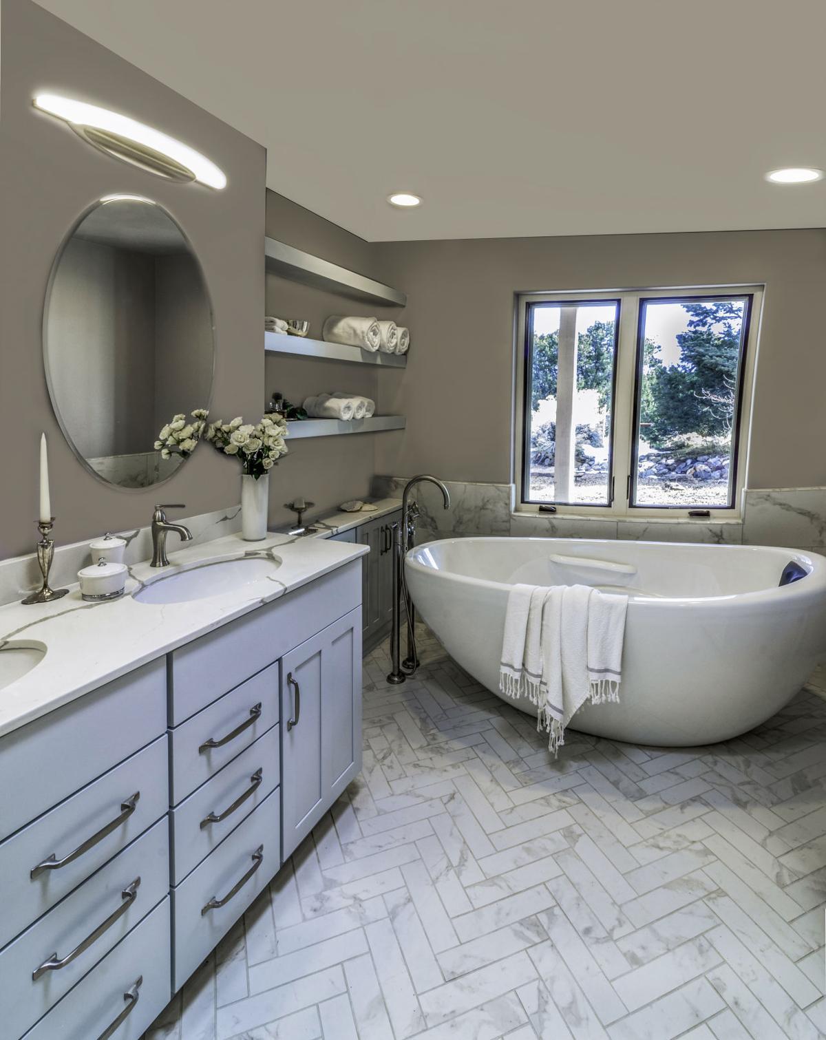 Marble bath splendor