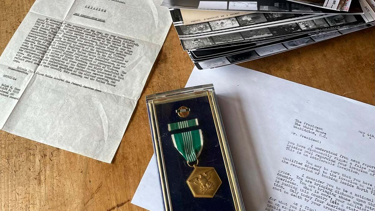 1960s memorabilia and a letter to the president