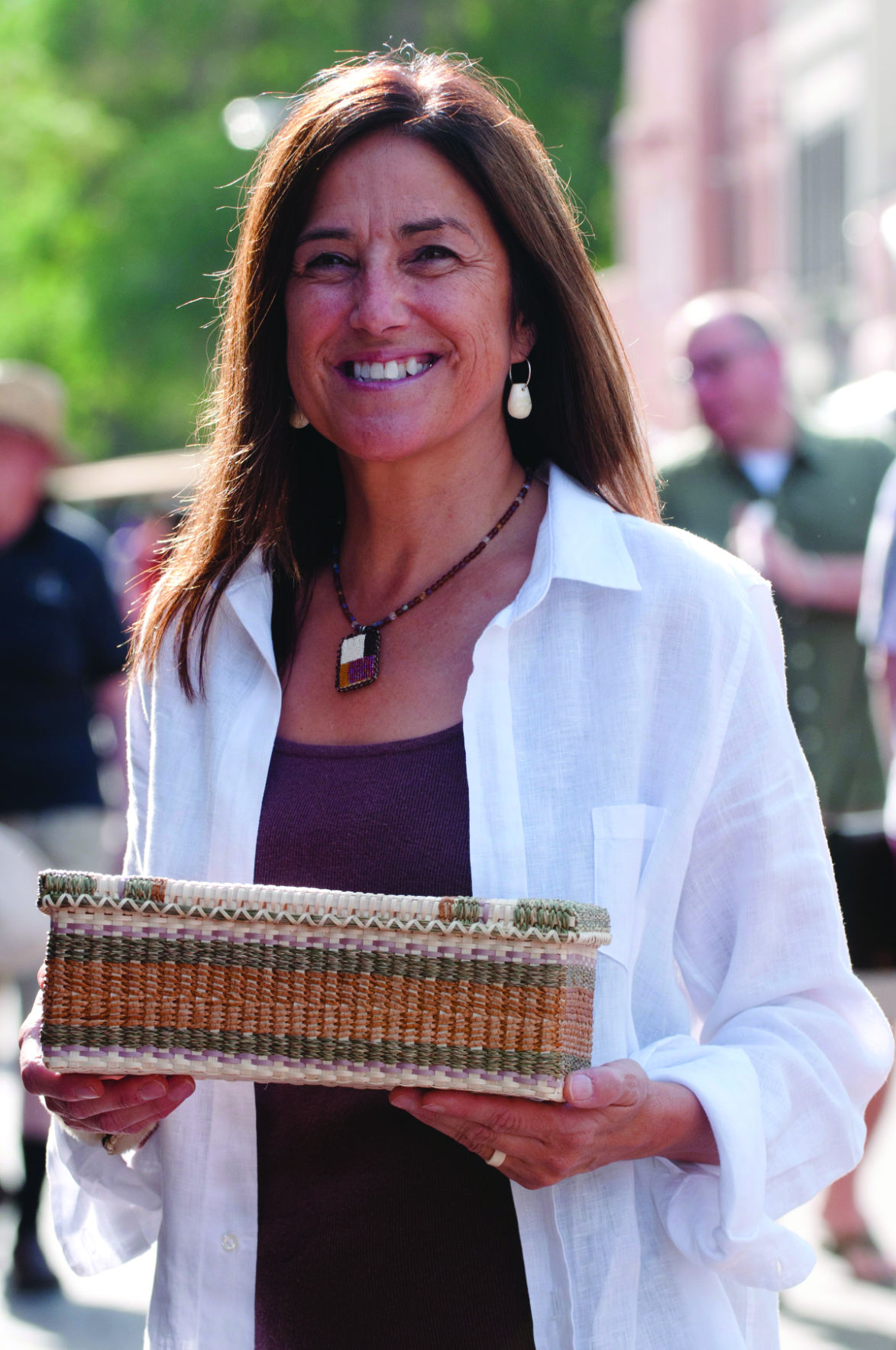 Theresa Secord with Basket