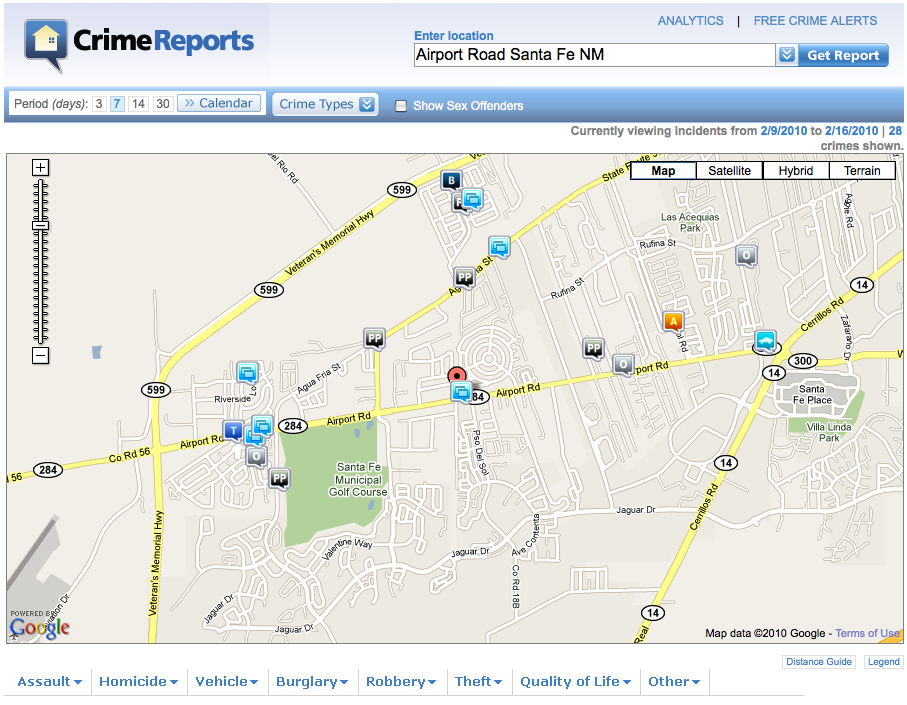 Online map plots Santa Fe County crime | Local News ...