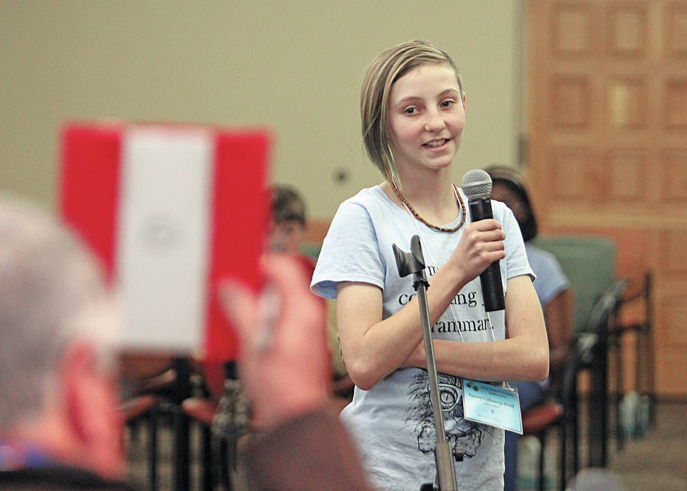Spelling bee newcomer rises to the top