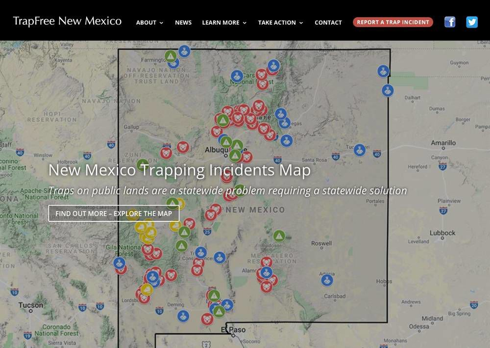 Coalition puts out online map of illegal trapping in N.M.