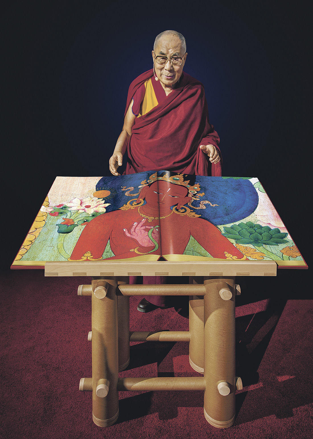 Dalai Lama- Murals of Tibet- Taschen Books- Form and Concept Gallery- Santa Fe New Mexico