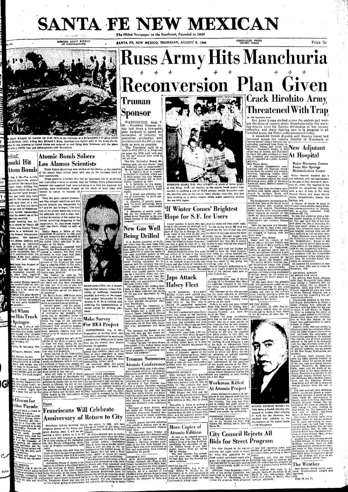 Atomic bomb sobers Los Alamos scientists [PDF]