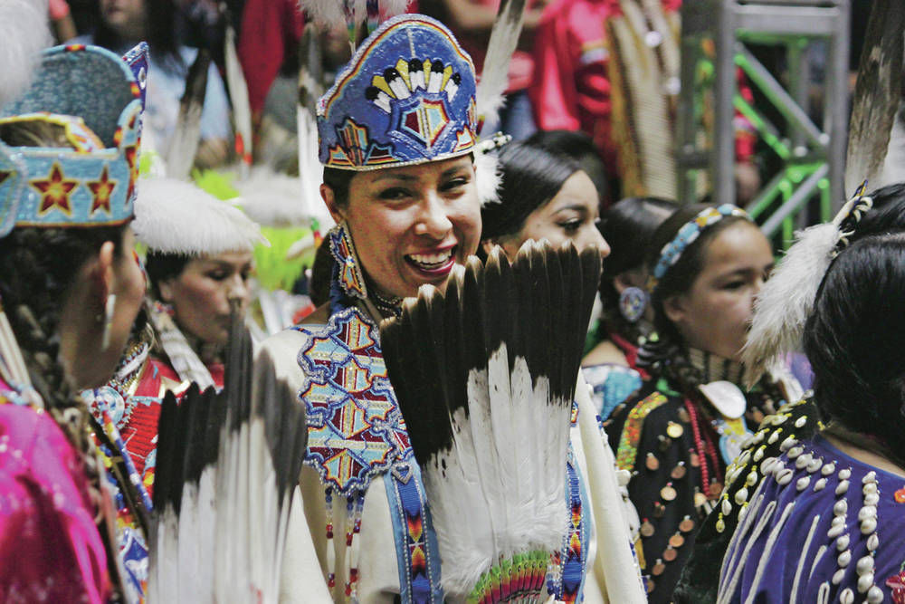 Zia Pueblo's Southern Slam drumming at Gathering of Nations