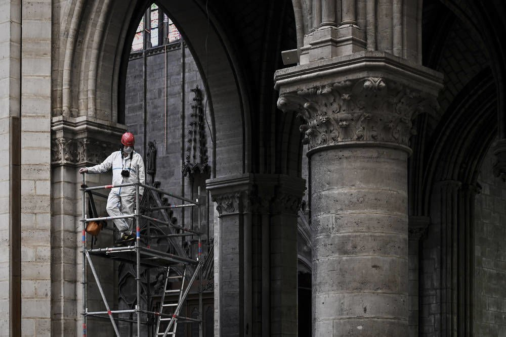 Small donors, not French tycoons, foot Notre Dame work bills
