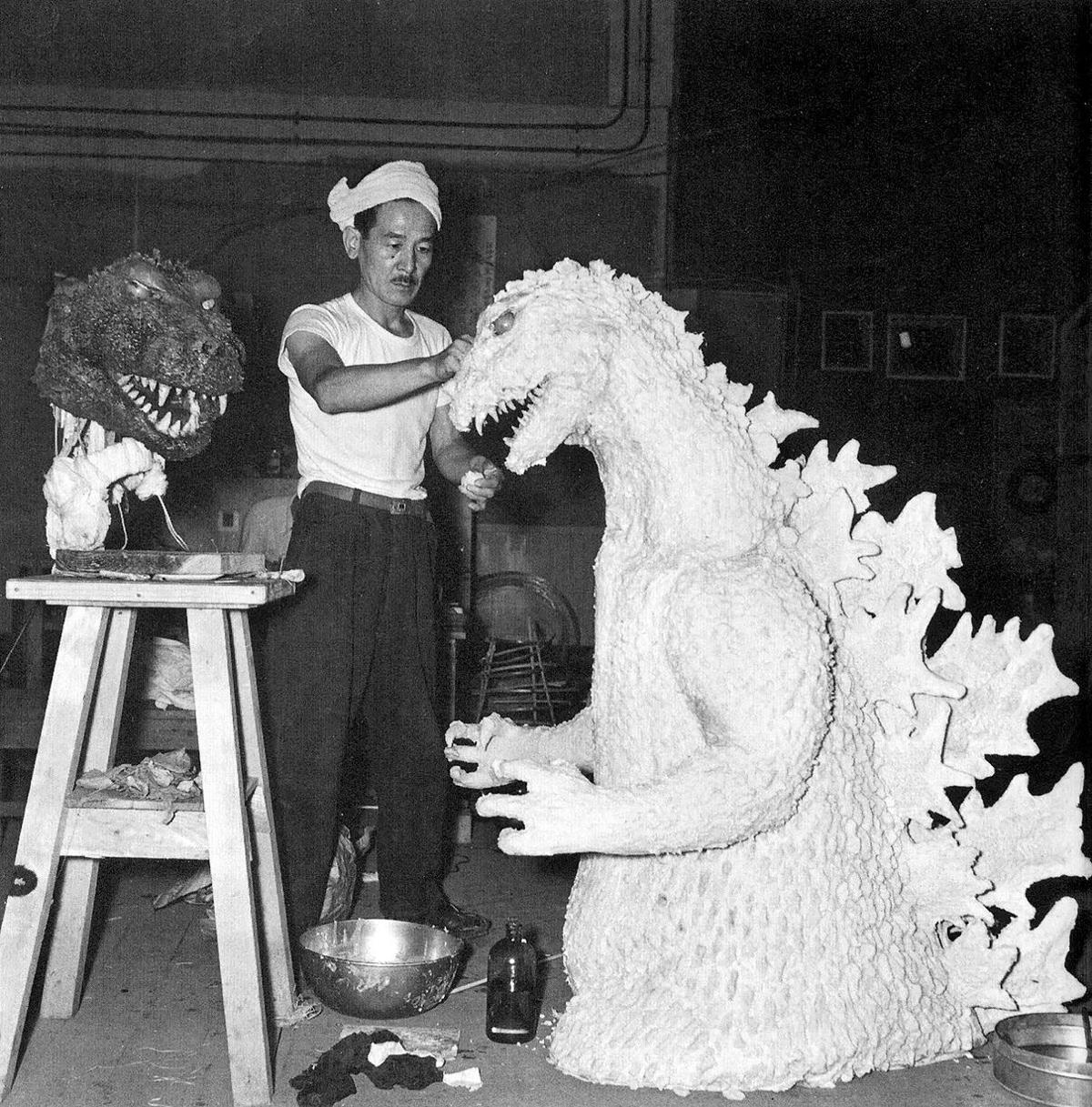set of Godzilla 1954