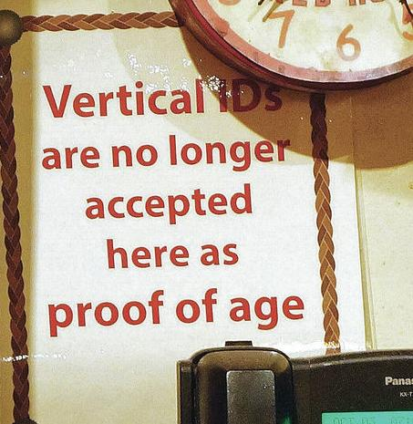 Vertical ID bans at local bars leave some young drinkers dry