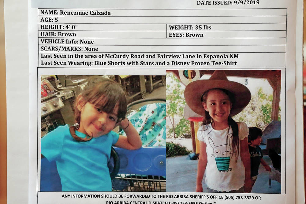 Man held as search continues for missing for Rio Arriba County girl