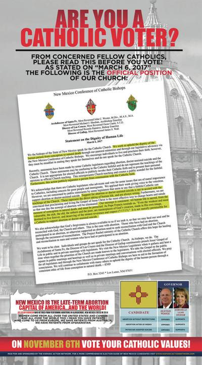 New Mexico bishops disavow 'Catholic voters' ad