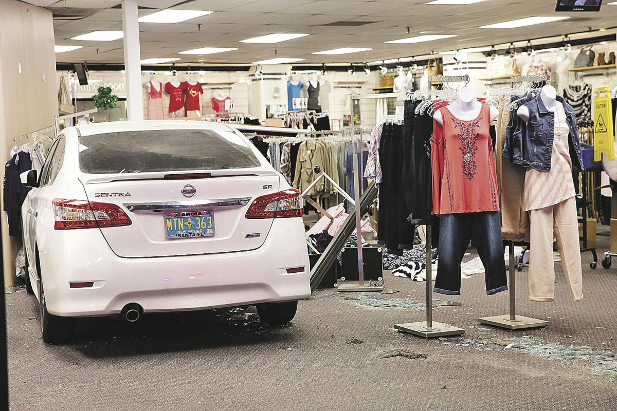 Car crash at Cato Fashions