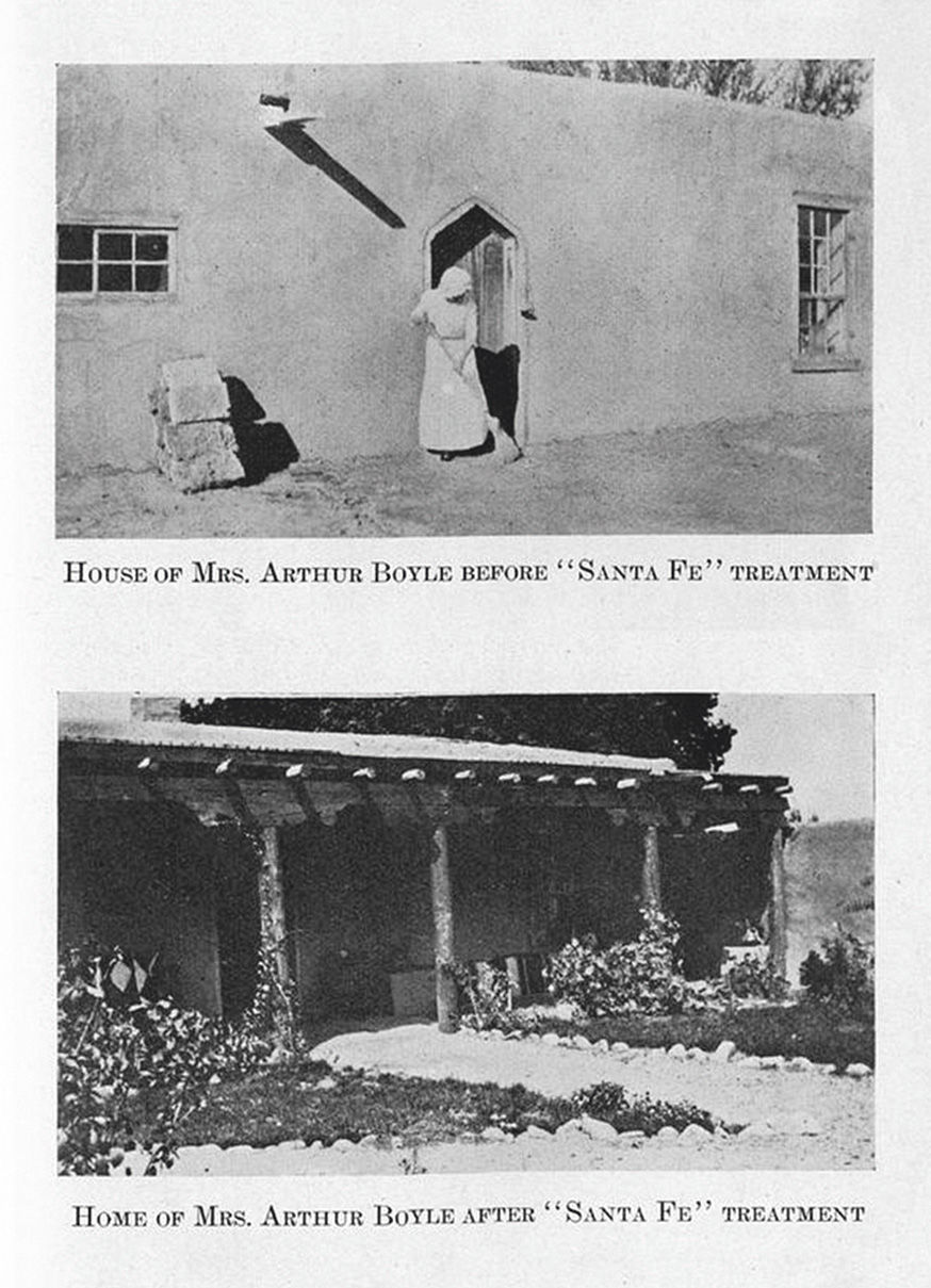 The Boyle House before and after