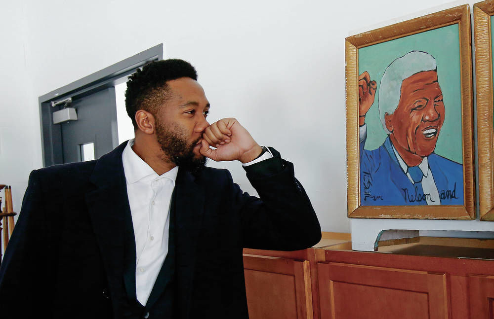 Nelson Mandela's grandson shares inspirational stories about South African leader in tour around Northern N.M.