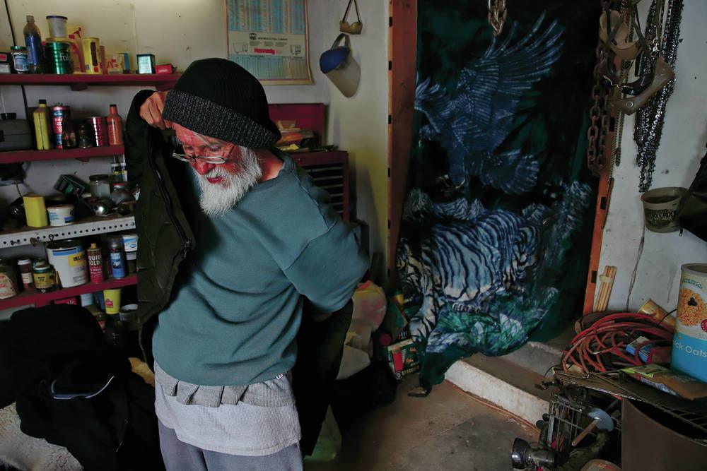 Veteran living in garage after Rowe home burned