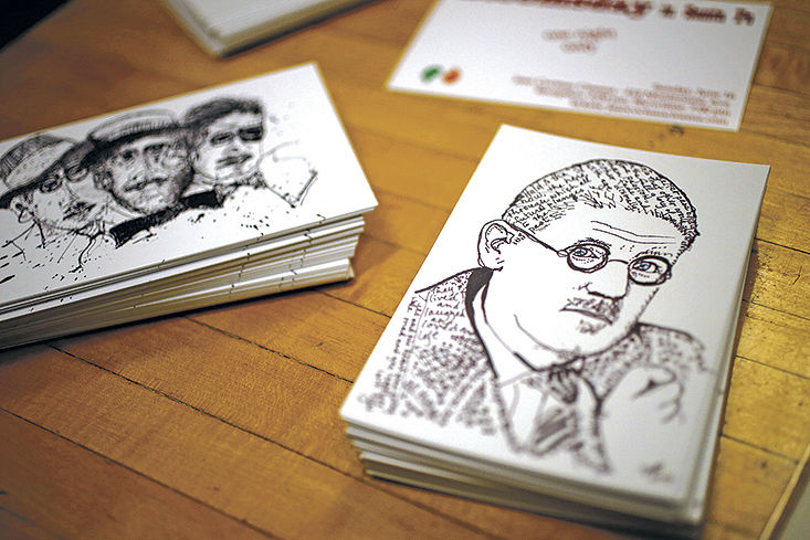 Bloomsday event postcards