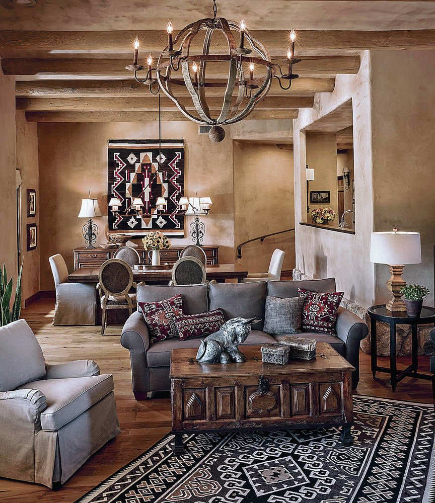 Warm And Casual Southwest Style Is Hot In Décor Santa Fe
