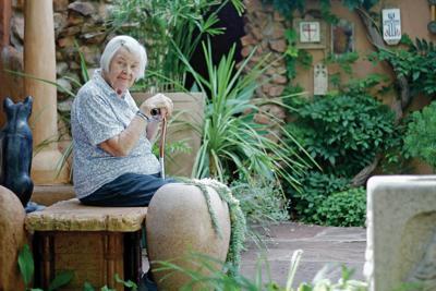 Remaining in her beloved Santa Fe garden forever