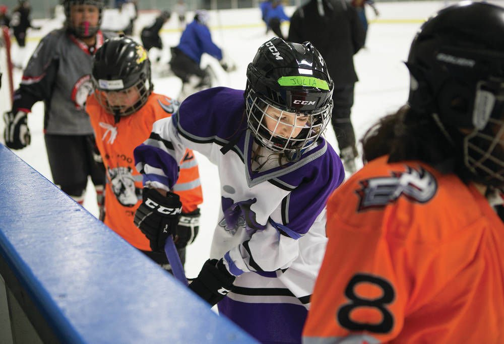Santa Fe girls hockey team happy to have a league of their own