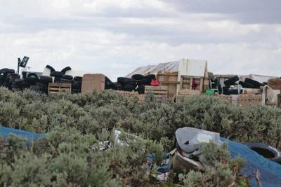 Raided compound near Taos razed
