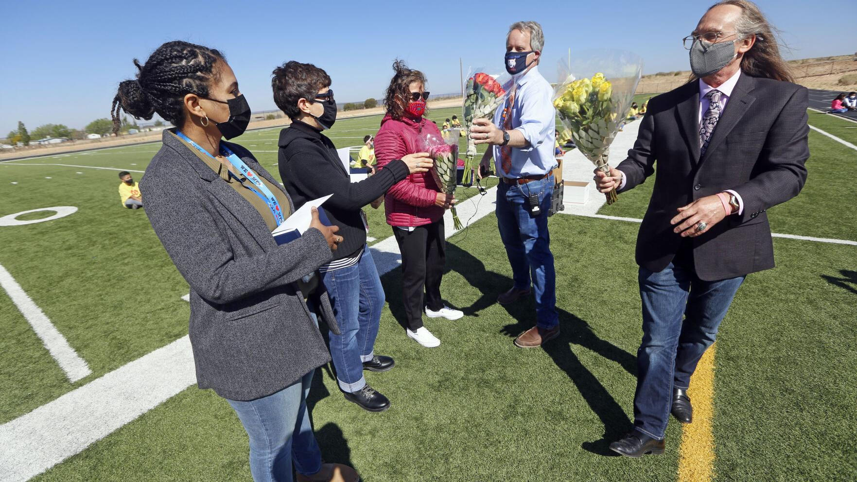 Three of six honored teachers come from same school in Santa Fe