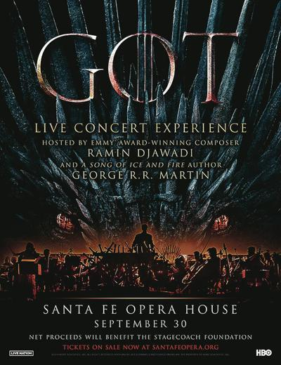 'Game of Thrones' music/video concert set for Santa Fe Opera