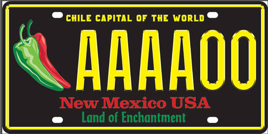 Chile license plates a popular order local news for Motor vehicle division santa fe