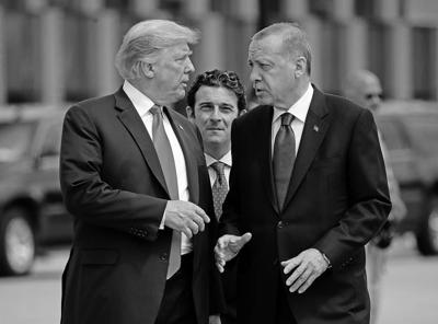 President Donald Trump moves from threatening to obliterate Turkey's economy if it invades Syria to inviting its president to the White House