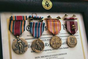 98-year-old WWII vet receives replacements for lost medals — and a surprise honor