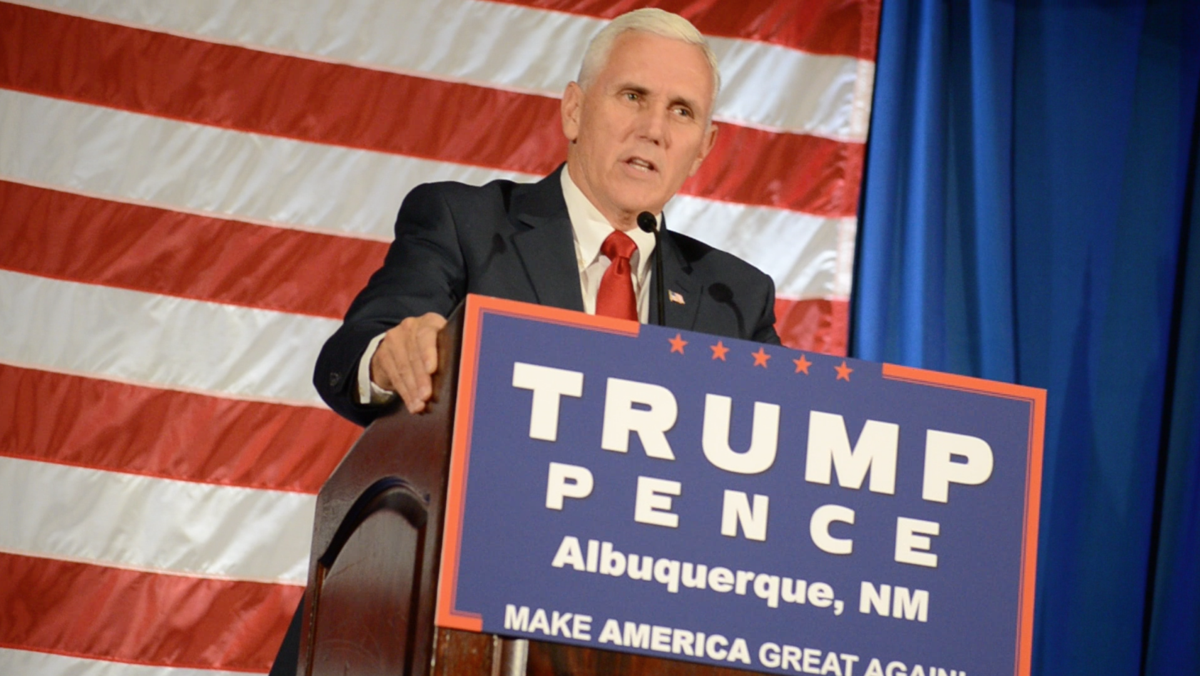Pence added two stops in New Mexico