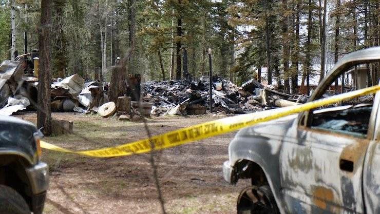 Angel Fire police search ashes after house fire, officer-involved shooting