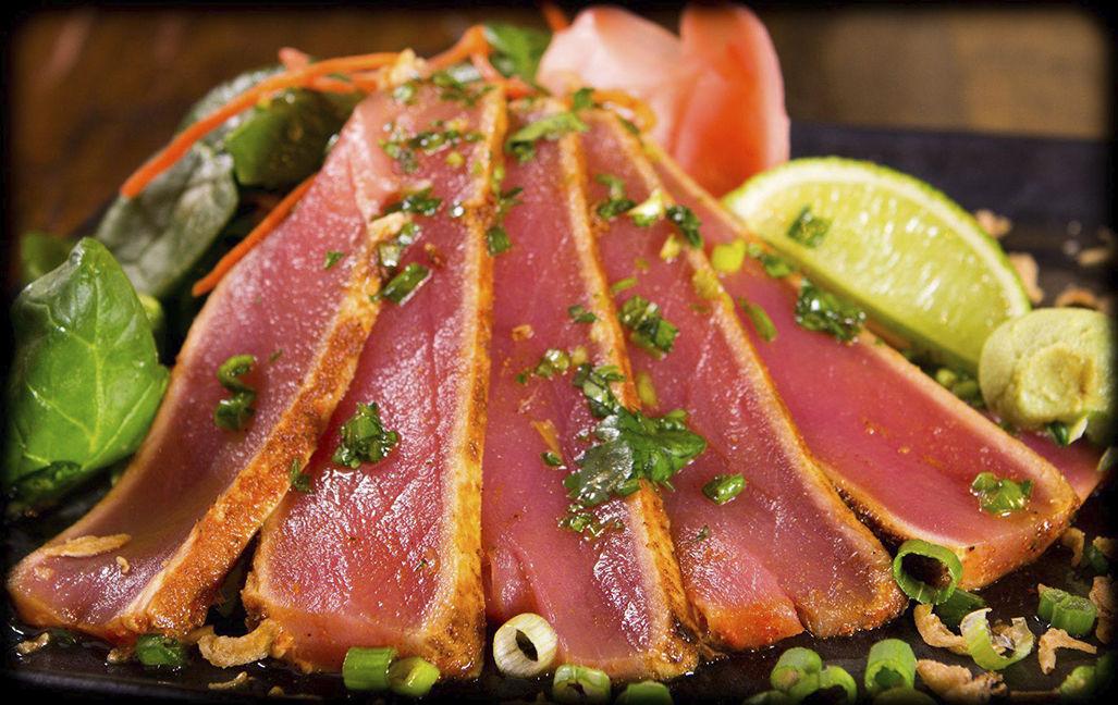 Sashimi tuna Jinja Bar & Bistro