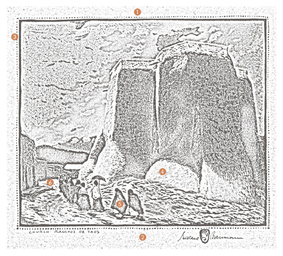 """Anatomy of a print: Gustave Baumann's """"Church Ranchos de Taos"""""""