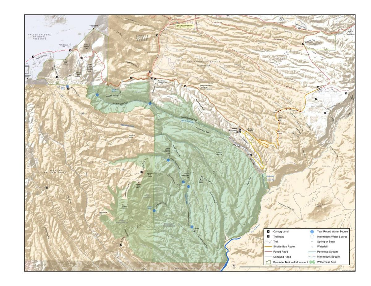 Bandelier National Monument Map
