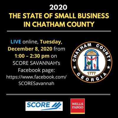 2020 STATE OF SMALL BUSINESS IN CHATHAM COUNTY social media