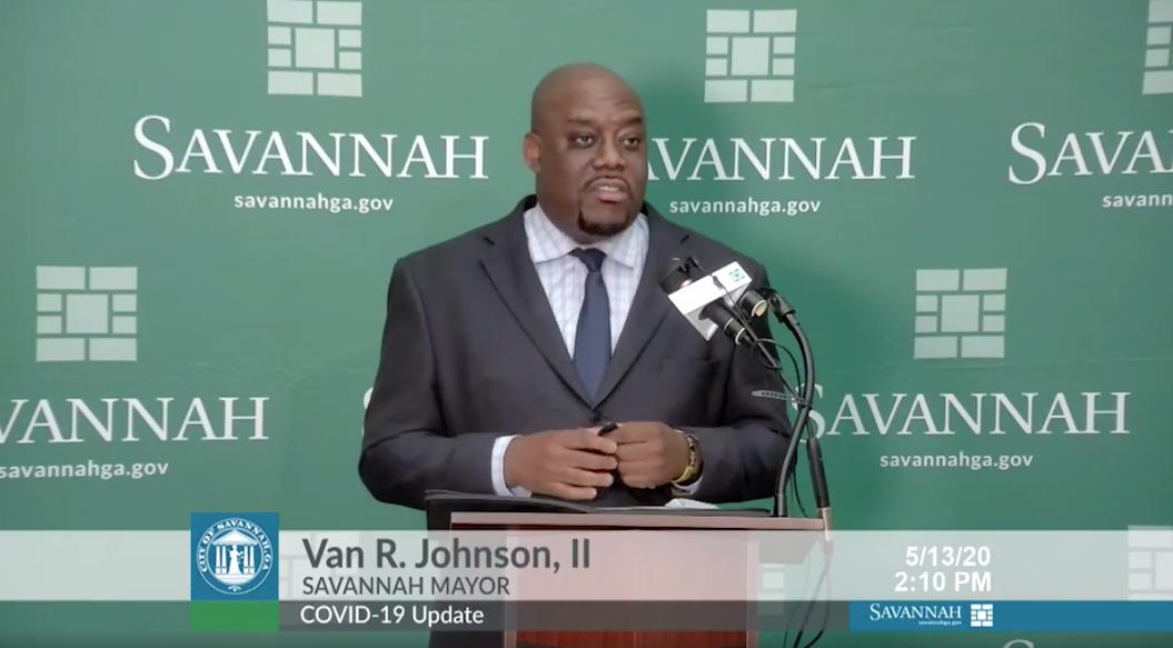 Mayor Johnson at Press Conference