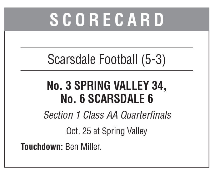 Scarsdale football boxscore 11/1 issue