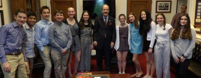 SMS student government members visit DC