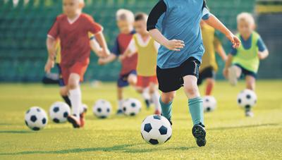 Youth sports stock photo