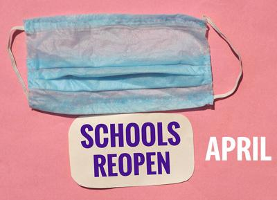 Schools reopen April image