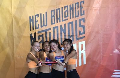 Scarsdale girls SMR relay nationals photo