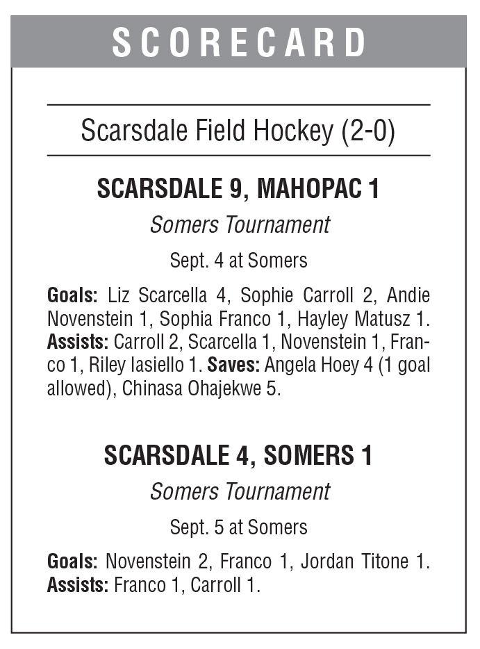 Scarsdale field hockey box score 9/13