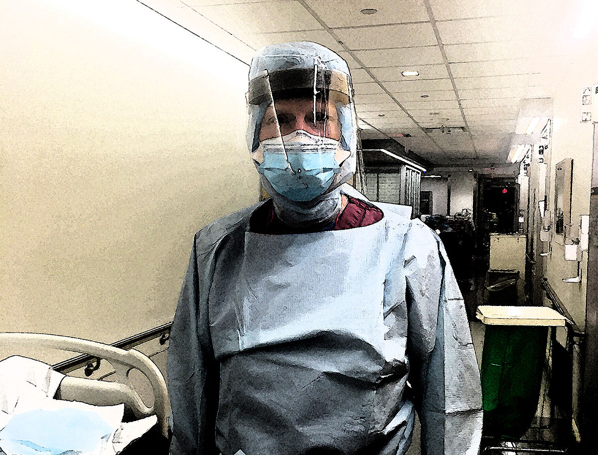 Mark Weller in scrubs in ER dark strokes.jpg