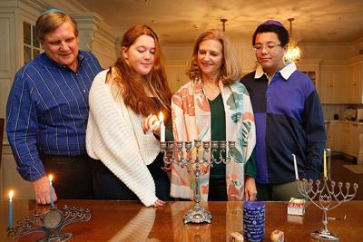 Hosp family Hanukkah photo