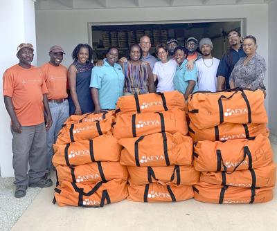 Volunteers Bahamas relief_AFYA group with donations.jpg