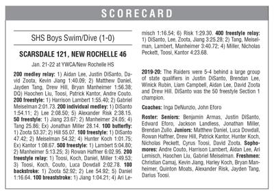 Scarsdale swim box 1/29 issue