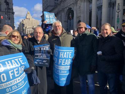 No Hate No Fear rally