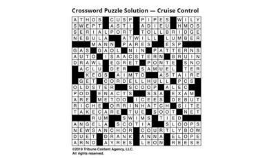 Crossword Solution Cruise Control